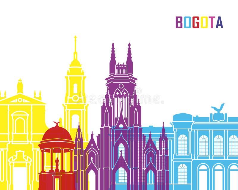 PNF da skyline de Bogotá ilustração royalty free