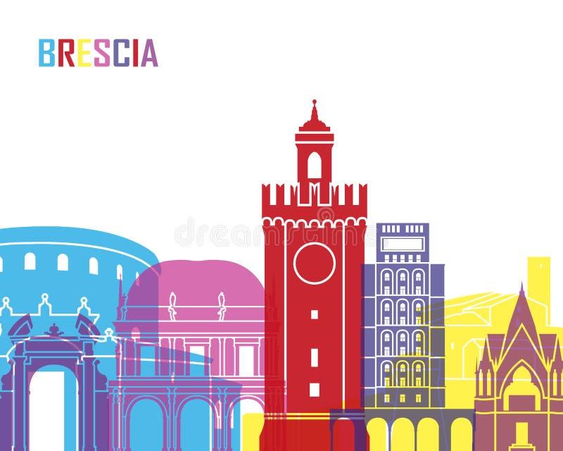 PNF da skyline de Bríxia ilustração royalty free