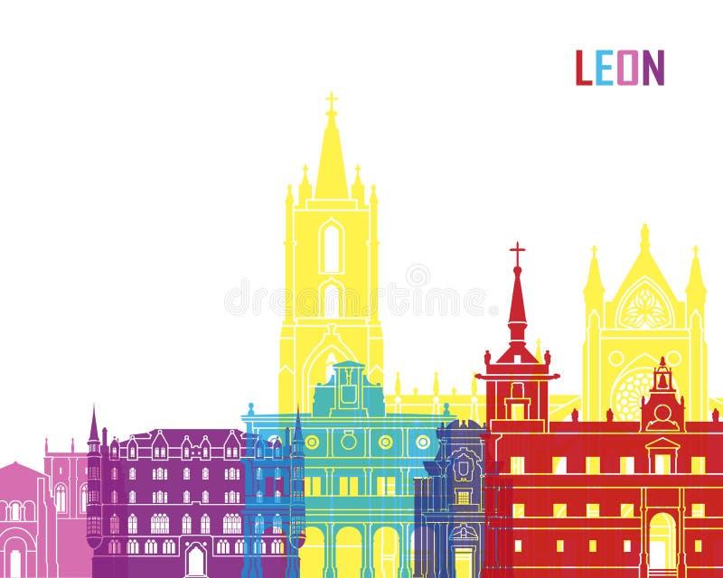 PNF da skyline de Leon ilustração royalty free