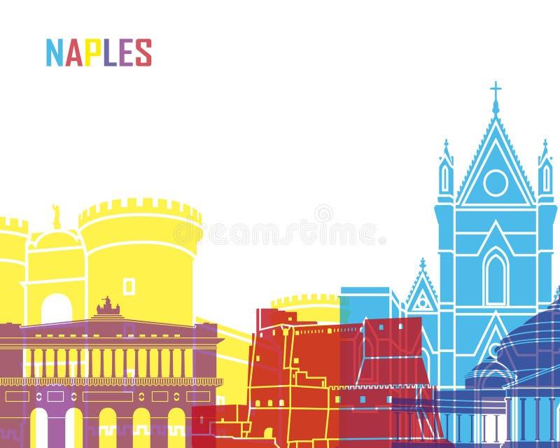 PNF da skyline de Nápoles ilustração do vetor