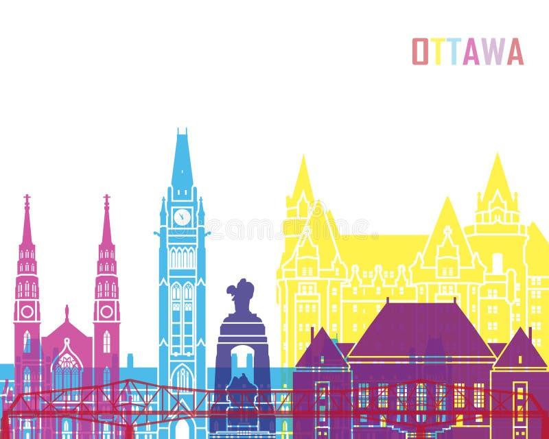 PNF da skyline de Ottawa V2 ilustração do vetor