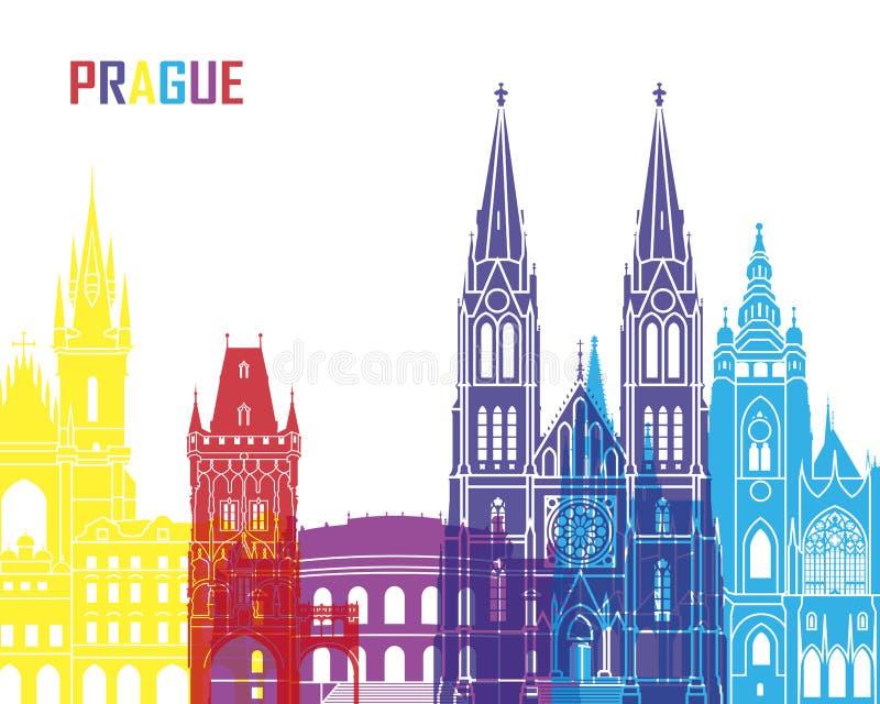 PNF da skyline de Praga ilustração do vetor