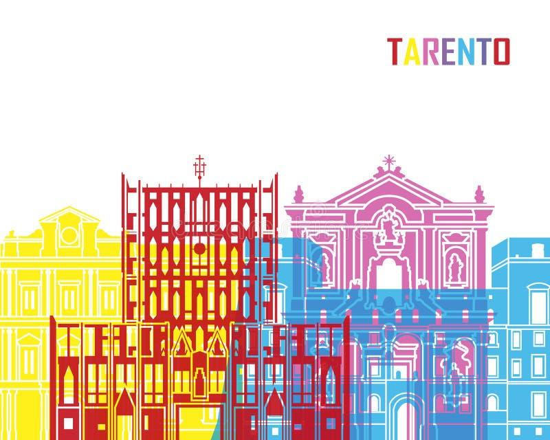 PNF da skyline de Tarento ilustração royalty free