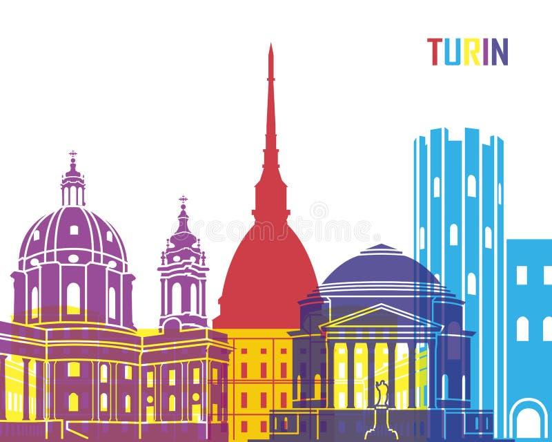 PNF da skyline de Turin ilustração royalty free