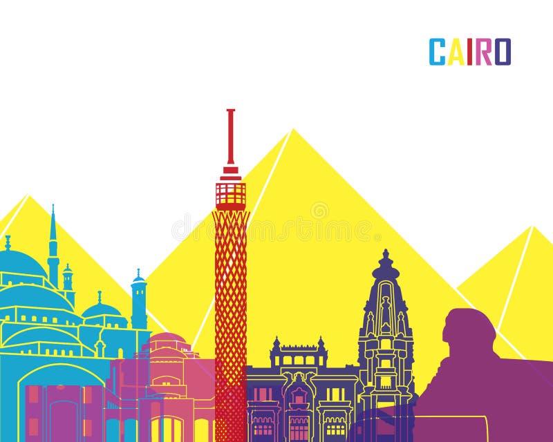 PNF da skyline do Cairo ilustração royalty free