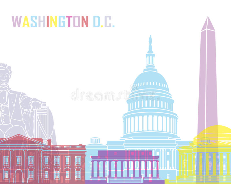 PNF da skyline do Washington DC ilustração do vetor