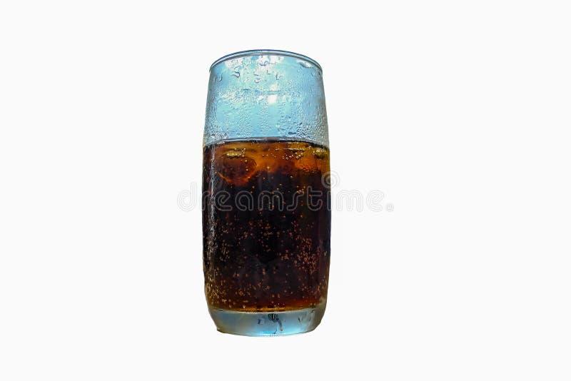 PNF de soda no vidro no isolado imagem de stock royalty free