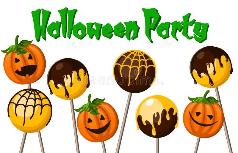 PNF do bolo de Halloween ilustração do vetor