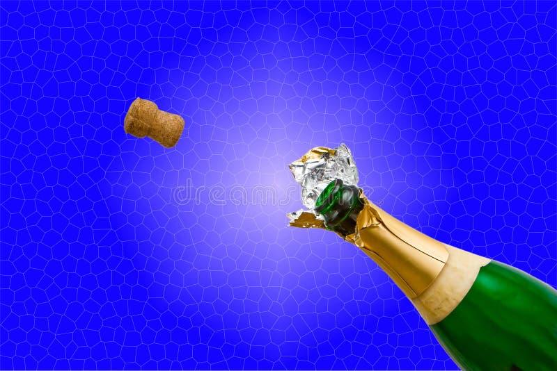 PNF do frasco de Champagne imagens de stock royalty free