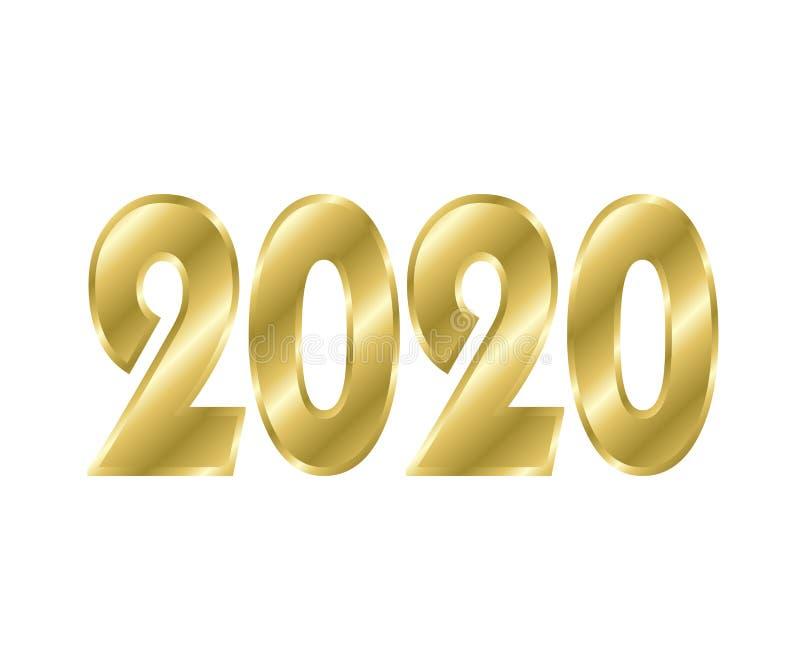 Png 2020 do efeito do texto do ano novo feliz imagem de stock royalty free
