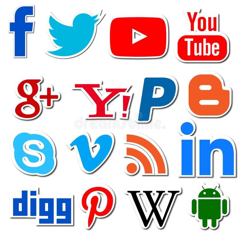 Png social dos apps dos trabalhos em rede dos meios ilustração royalty free