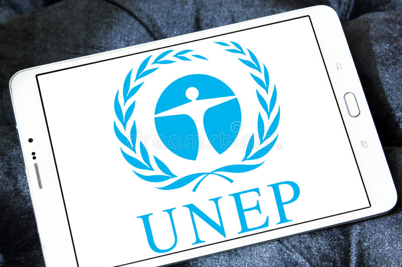 PNUA, logotipo do programa do ambiente de United Nations fotografia de stock royalty free
