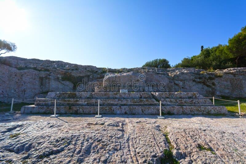 Pnyx av Aten arkivbild