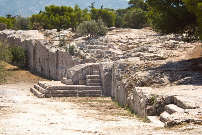 Pnyx van Athene royalty-vrije stock afbeeldingen