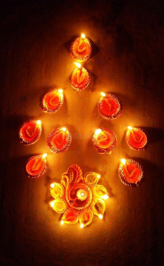 Pożarnicza dekoracja Diwali obraz stock