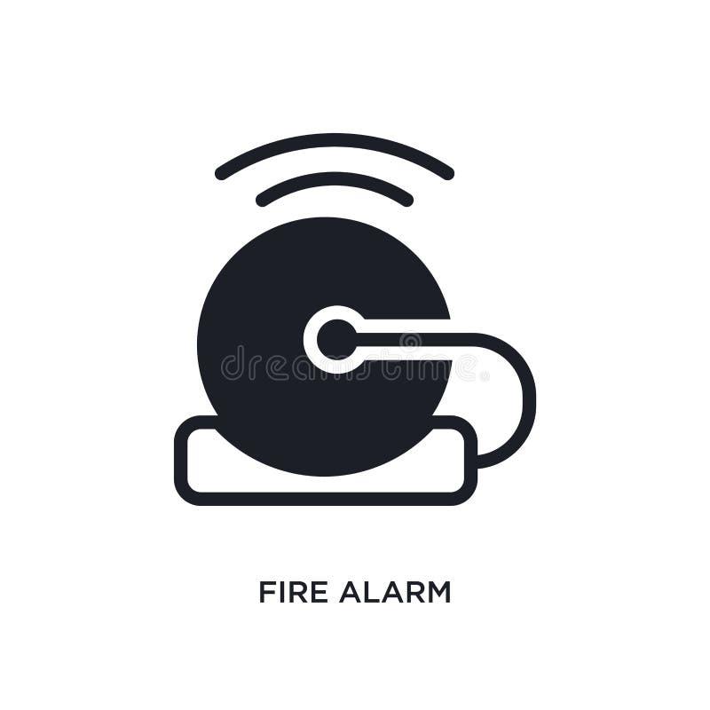 pożarniczego alarma odosobniona ikona prosta element ilustracja od mądrze domowych pojęcie ikon pożarniczego alarma logo znaka sy ilustracji