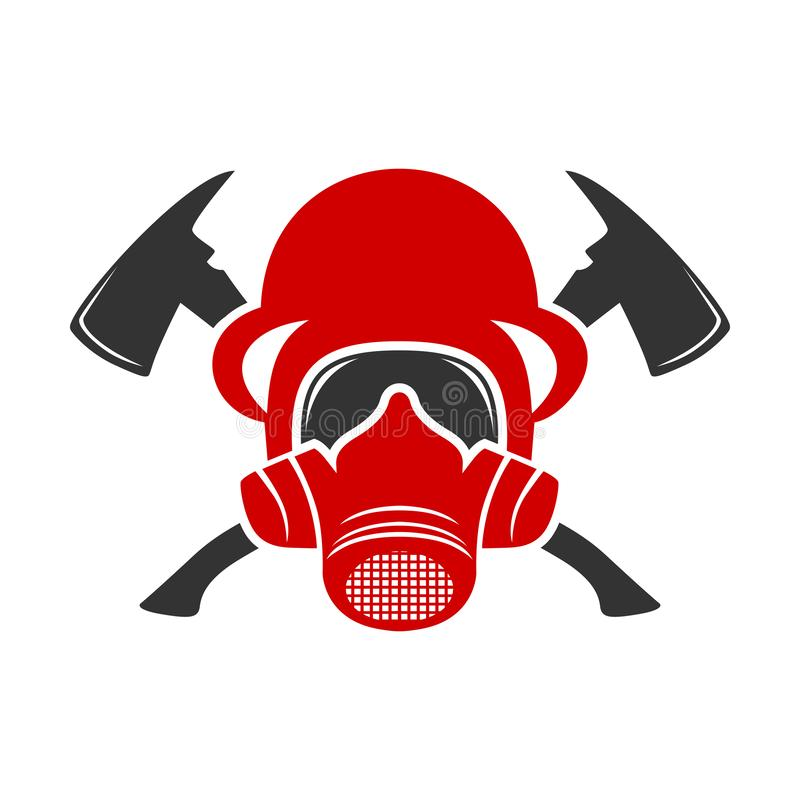 Pożarniczy hełma logo ilustracji