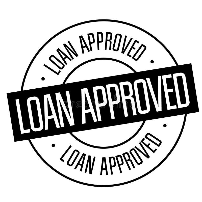 Pożyczka zatwierdzający znaczek na bielu ilustracji