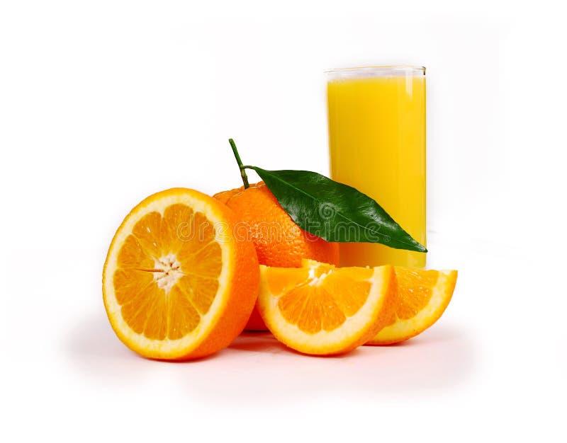 połówek pomarańcze jeden fotografia stock