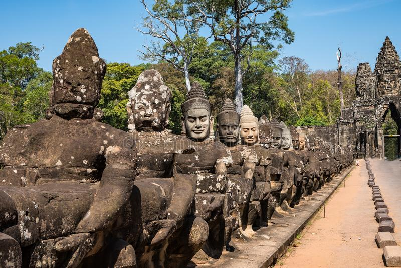 Południe zakazują angkor thom w Kambodża, Azja zdjęcie stock