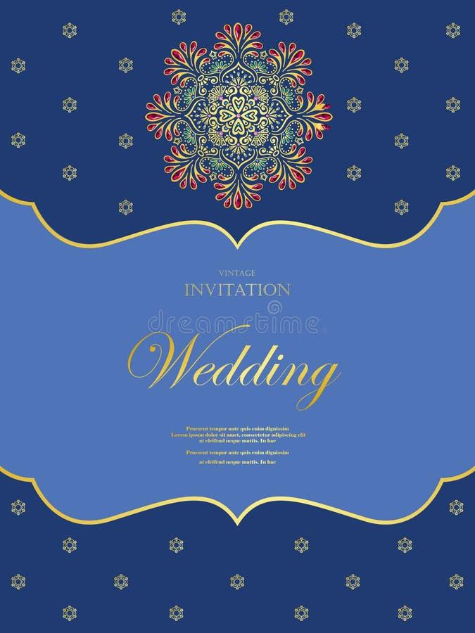 Poślubiać lub zaproszenia rocznika karciany styl z kryształu abstarct deseniuje tło, elementu eps10 ilustracja, hindus, zdjęcie stock