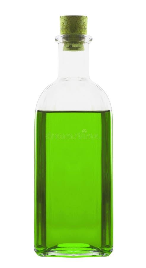 Poção da garrafa isolada no branco imagens de stock royalty free