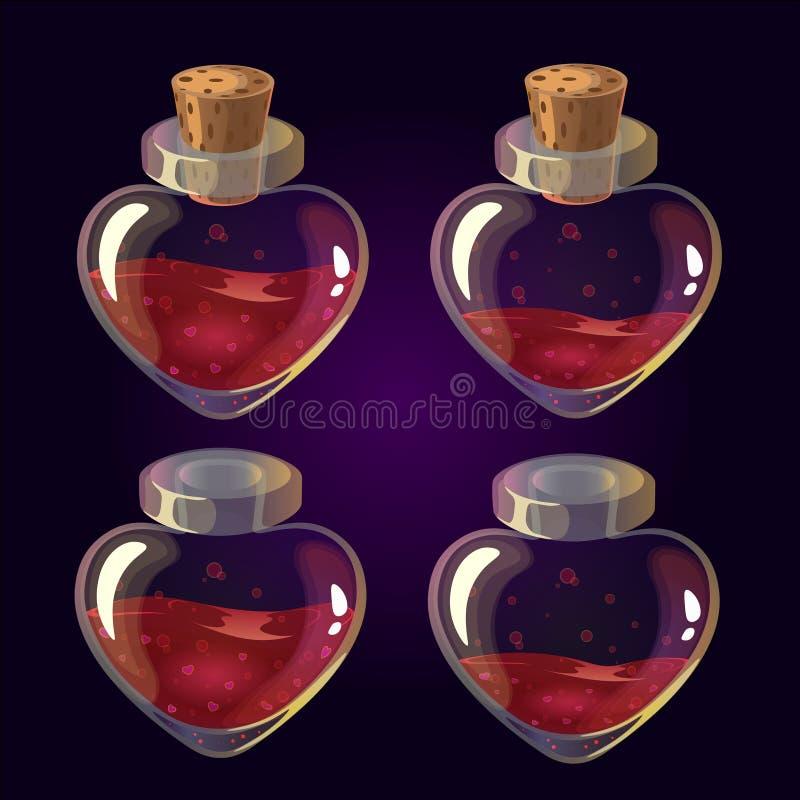 Poção de amor ilustração royalty free