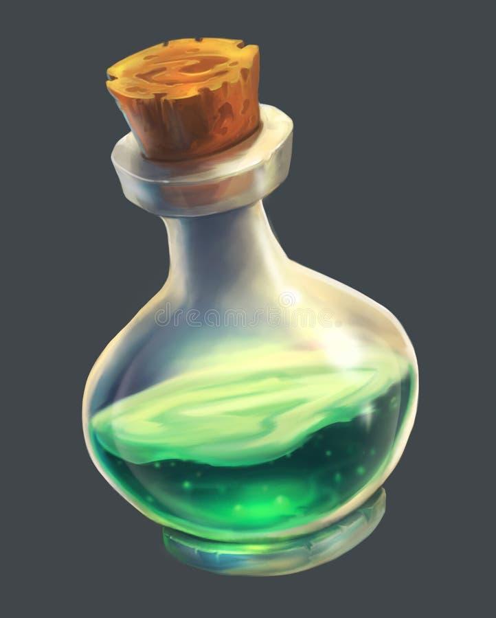 Poção mágica verde UI ilustração do vetor