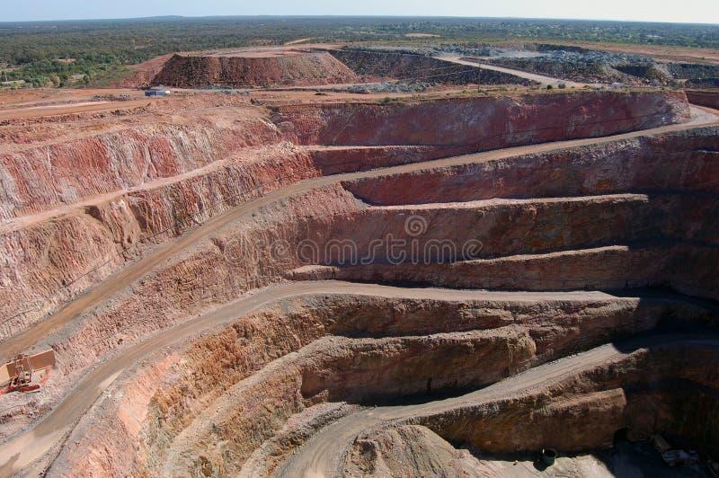 Poço aberto de mina de ouro imagens de stock