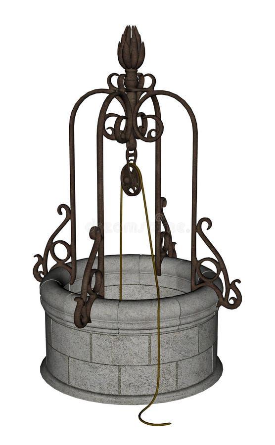 Poço antigo - 3D rendem ilustração stock