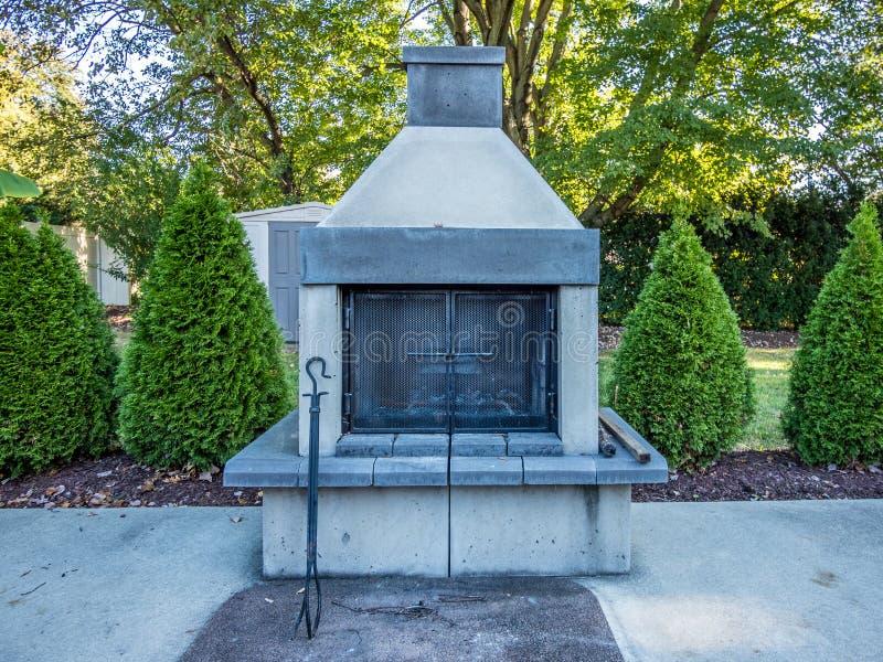 Poço ao ar livre do incêndio foto de stock royalty free