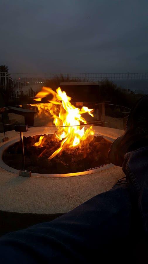 Poço ao ar livre do incêndio imagens de stock