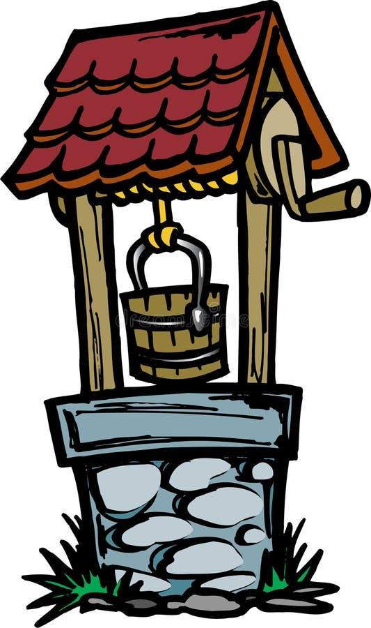 Poço de água ilustração stock