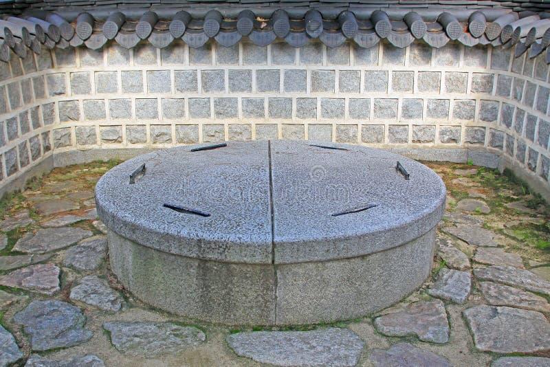 Poço de Coreia Jeonju Gyeonggijeon Shrine's imagem de stock