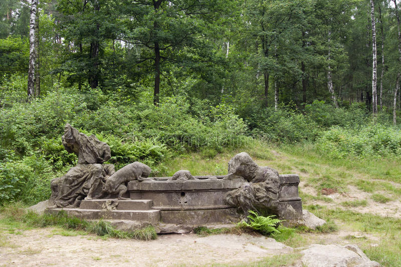 Poço de Jacobs - Kuks Forest Sculptures imagens de stock