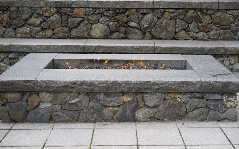 Poço de pedra do fogo imagem de stock
