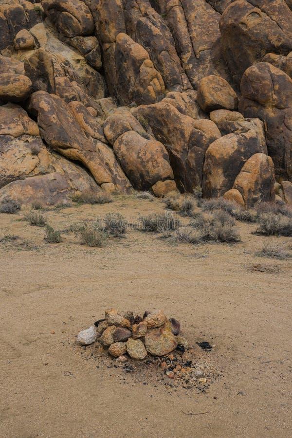 Poço de pedra do fogo fotografia de stock royalty free