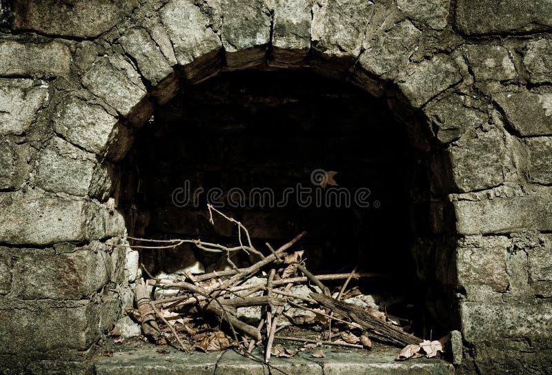 Poço de pedra do incêndio imagens de stock