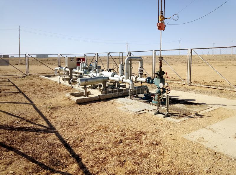 Poço de petróleo do equipamento imagem de stock