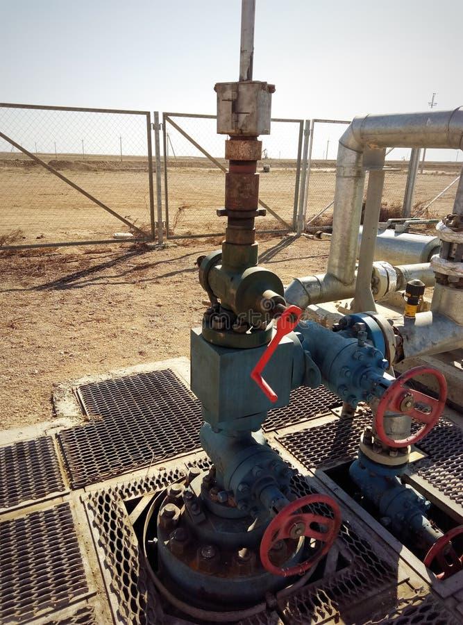 Poço de petróleo do equipamento foto de stock royalty free
