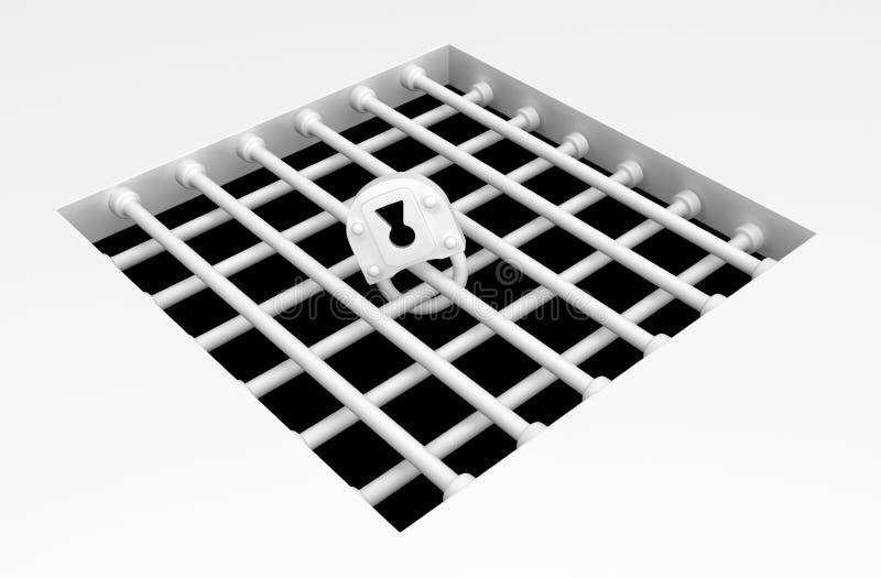 Poço de superfície da gaiola do branco ilustração do vetor