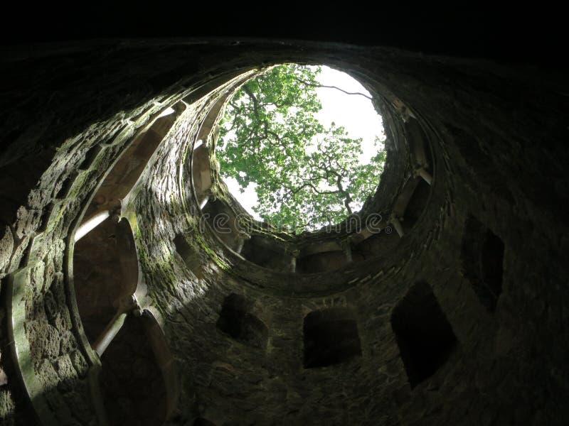 Poço maçônico da iniciação em Quinta de Regaleira imagem de stock