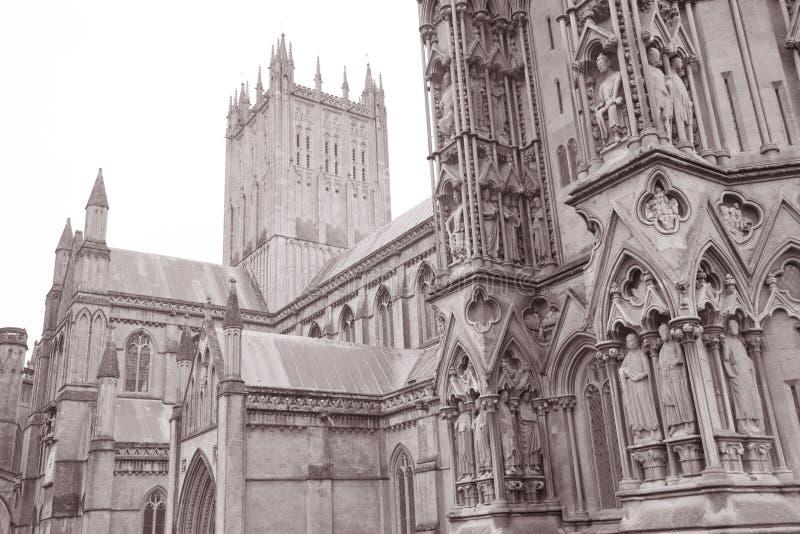 Poços catedral, Inglaterra imagens de stock royalty free