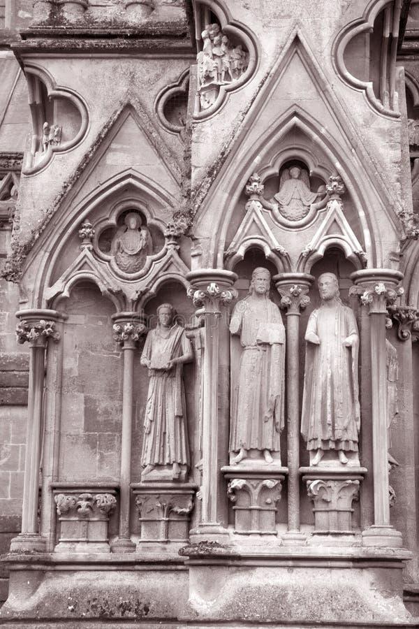 Poços catedral, Inglaterra imagem de stock