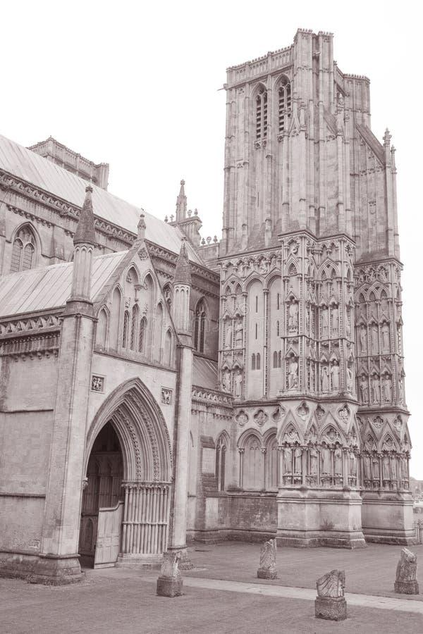 Poços catedral, Inglaterra fotografia de stock royalty free
