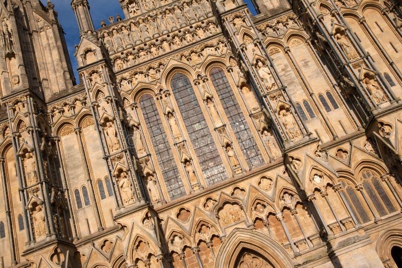 Poços catedral, Inglaterra, Reino Unido fotografia de stock royalty free
