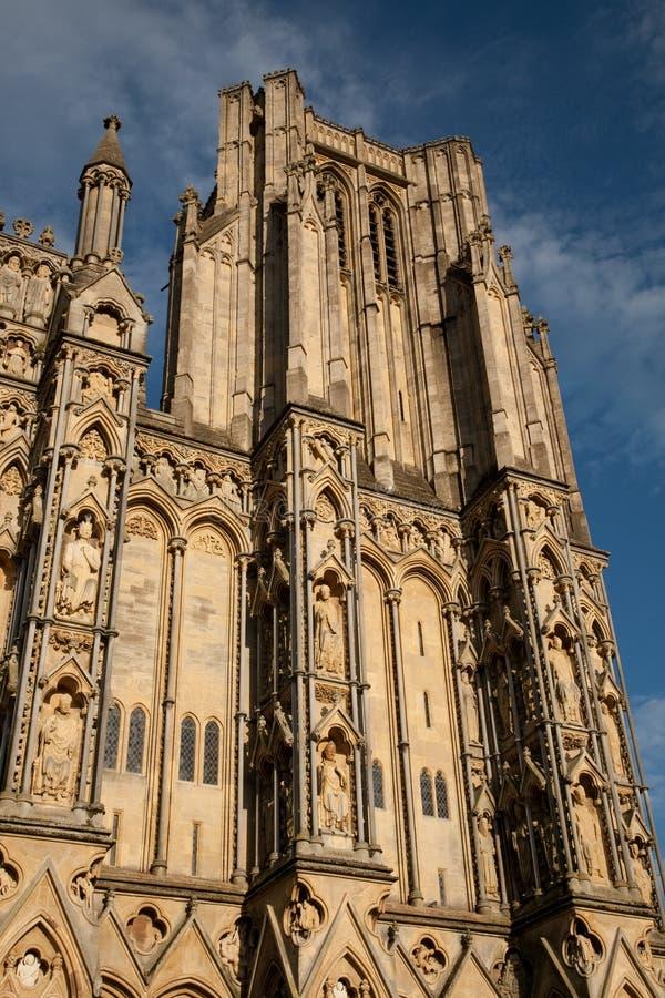 Poços catedral, Inglaterra, Reino Unido fotografia de stock