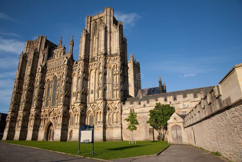 Poços catedral, Inglaterra, Reino Unido imagens de stock