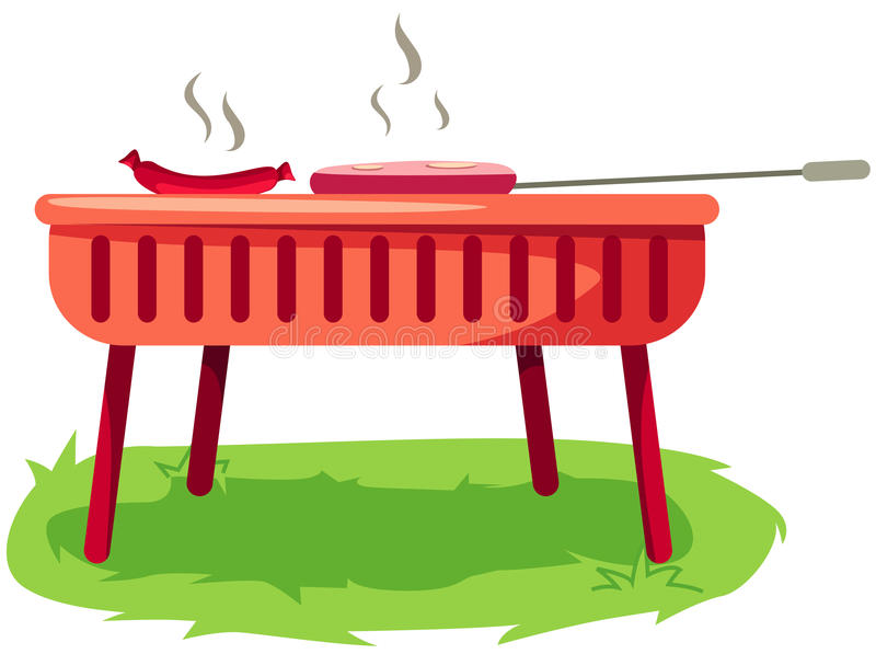 Poêle de barbecue illustration stock