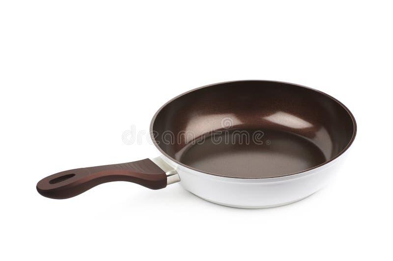 Poêle de Brown d'isolement image stock